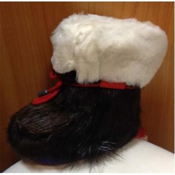 Зимние меховые пинетки нутрия/овчина П1