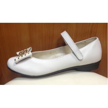 Туфли белые школьные для девочек Батичелли 21122-1