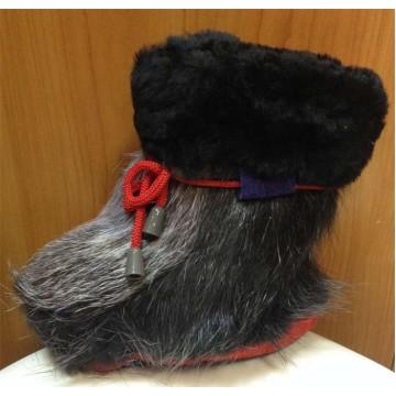 Зимние сапожки-пинетки нутрия/овчина П10