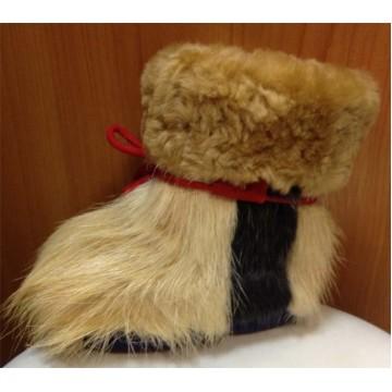 Зимние сапожки-пинетки нутрия/овчина П15