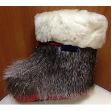 Зимние детские меховые пинетки нутрия/овчина П4