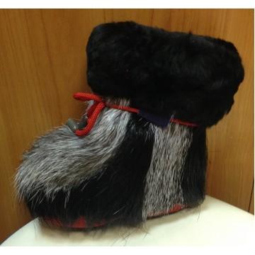 Зимние сапожки-пинетки нутрия/овчина П7