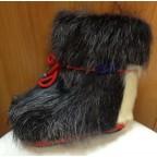 Зимние сапожки-пинетки нутрия/овчина П8