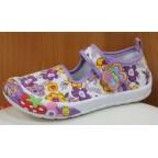 Туфли текстильные 14-5939 фиолетовые