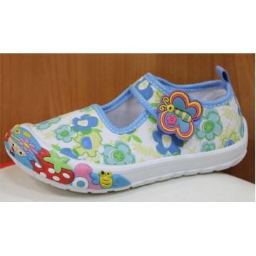 Туфли текстильные 14-5939 голубые