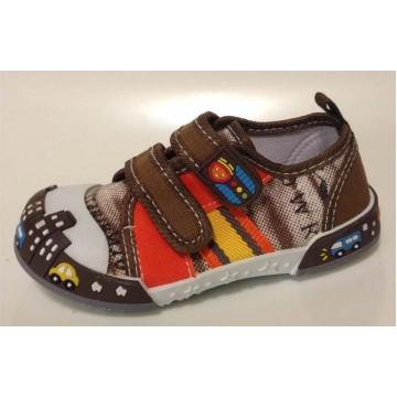 Туфли текстильные 14-710 коричневые