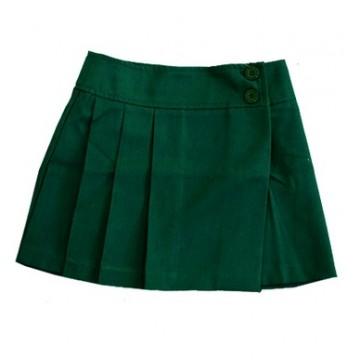 Юбка школьная зеленая 1609