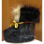 Зимние сапожки-пинетки нутрия/овчина П1