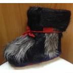 Зимние сапожки-пинетки нутрия/овчина П11