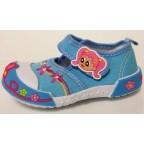 Туфли текстильные 14-0039 голубые