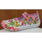 Туфли текстильные 14-5939 розовые